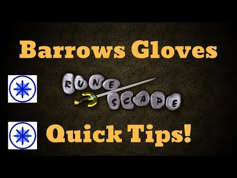 OSRS - Barrows Gloves Tips!