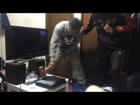 兒子剛買PS4回家,大榔頭「熊本熊」暴走砸爛!
