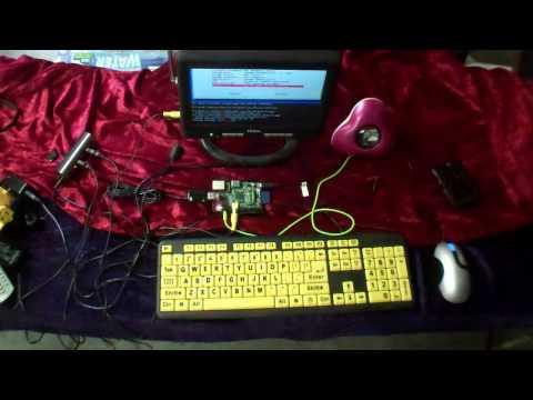 Raspberry Pi first run.