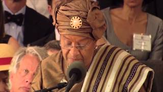 President of Liberia Ellen Johnson Sirleaf addressed the graduating class of 2011 at Harvard's Commencement on May 26, 2011.
