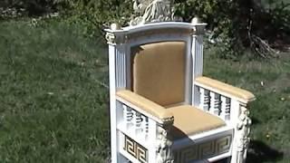 Изготовление одной из деталей  кресла в греческом стиле