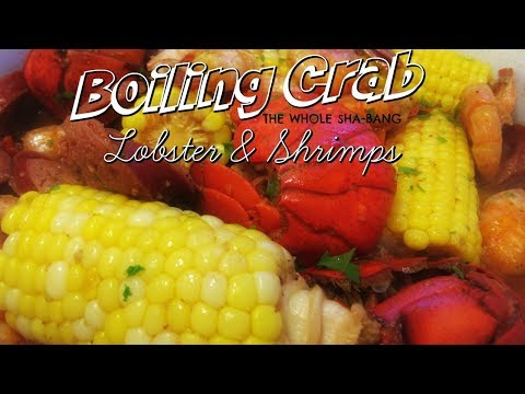 Boiling Crab with Lobster & Shrimps, THE WHOLE SHA-BANG I Lorentix