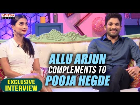 Video Allu Arjun Complements To Pooja Hegde | Allu Arjun & Pooja Hegde Exclusive Interview About DJ download in MP3, 3GP, MP4, WEBM, AVI, FLV January 2017