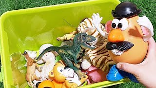Video TOY STORY Mr Potato Head assemble! Animals Toys Baby find Mom Learning Video Part14 MP3, 3GP, MP4, WEBM, AVI, FLV April 2019