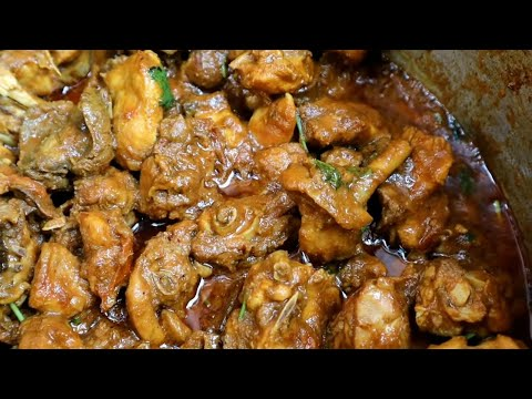 Enjoying Sunday Special Chicken Kasha 😋 I Desi home Style