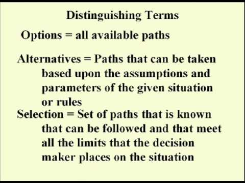 ENG 352 Technical Writing - 16 - Decision Making