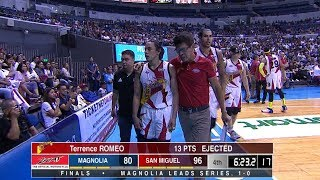 Romeo ejection | PBA Philippine Cup 2019 Finals