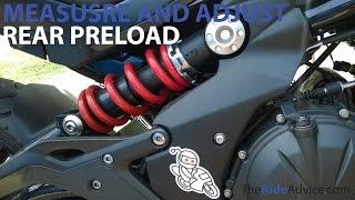 5. How to Measure and Adjust Rear Preload - Adjust Motorcycle Suspension