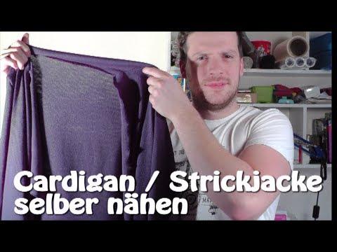 DIY | Cardigan / Strickjacke selber nähen I Nähen für Anfänger | Tutorial
