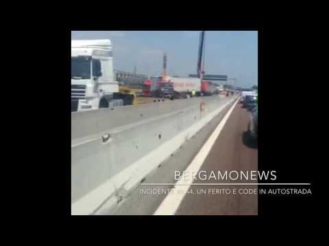 Incidente in A4, un ferito e code tra Capriate e Trezzo
