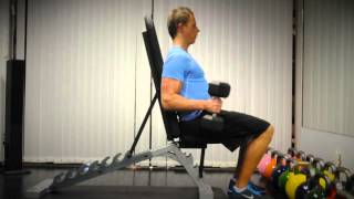 Exercise Index: Seated Biceps Curl (Neutral Grip)