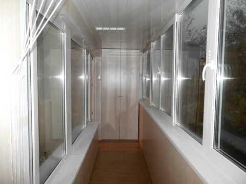 Максимус окна - ремонт шестиметровой лоджии со стандартной о.