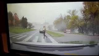 Szokujące nagranie z kamery samochodu zawalił się wiadukt w Koszalinie!