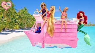 Video Barbie doll Pink Cruise Ship Toy Barbie Kapal pesiar merah muda Barbie Navio de cruzeiro rosa MP3, 3GP, MP4, WEBM, AVI, FLV Juli 2018