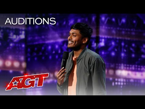 Comedian Usama Siddiquee Performs Hilarious Stand-Up Comedy - America's Got Talent 2020