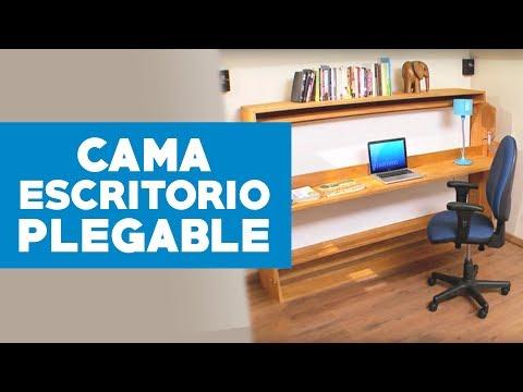 ¿Cómo construir un escritorio con cama plegable?