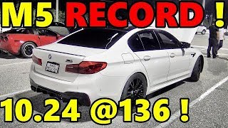 F90 BMW M5 WORLD RECORD !! 10.24 @ 136 mph - RoadTest® by Road Test TV