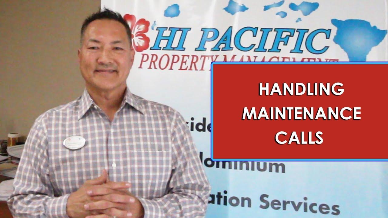How HI Pacific Property Management Handles Maintenance Calls
