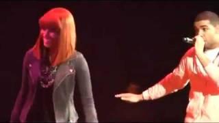 Drake Grinds on Nicki Minaj on stage and fires a shot at lil kim