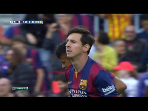 Lionel Messi Penalty Goal Vs Getafe | FC Barcelona Vs Getafe 6-0 | 28/04/15 |