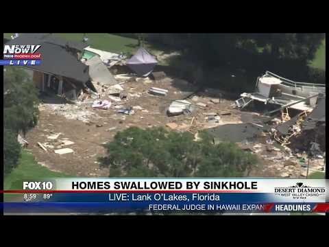 WOW: GIANT Sinkhole Swallows Homes, Continues to Grow in Land O'Lakes, Florida - FULL COVERAGE (FNN)