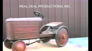 """Information on the Graham Bradly Jr Pedal Tractor.  From our video on pedal tractors. It includes a visual descriptive study of each pedal tractor. Check out our facebook page """"Pedal Tractors"""" or our website www.arealdealproductions.com. We carry  a full line of pedal parts and pedal tractors."""