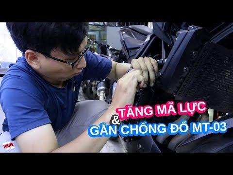Tăng mã lực cho Yamaha MT-03 | Gắn chống đổ cho MT-03 - Thời lượng: 13 phút.