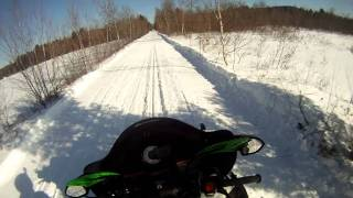 7. 2010 Arctic Cat Z1 turbo Sno Pro cruzin on groomed trails in Buckfield Maine