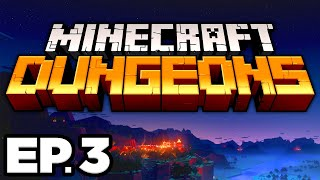 Minecraft Dungeons Ep.3 - • CACTI CANYON, AWESOME LOOT, FIND THE DESERT TEMPLE! (Gameplay Lets Play)