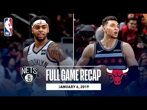 Video: Full Game Recap: Nets vs Bulls | D'Angelo Russell and Zach LaVine Duel In Chicago