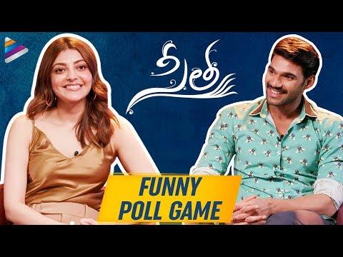 Kajal Aggarwal and Bellamkonda Sreenivas FUNNY POLL GAME | Sita Telugu Movie | Telugu FilmNagar