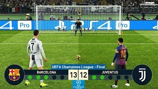 Video PES 2019 | Barcelona vs Juventus | Final UEFA Champions League (UCL) | Penalty Shootout MP3, 3GP, MP4, WEBM, AVI, FLV Januari 2019