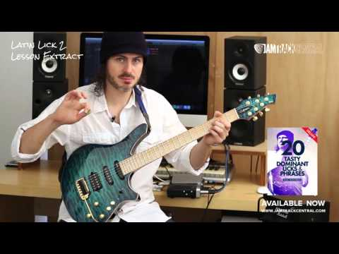 20 Dominant Tasty Licks and Phrases. Guitar Lessons by Alex Hutchings
