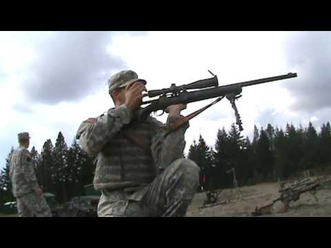 M24 - shooting the m24 kneeling.