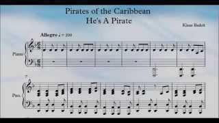 Pirates of the Caribbean He's A Pirate Piano