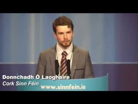 Laoghaire - Sinn Fin Cork (Carrigaline) representative Donnchadh  Laoghaire speaks on the issue of youth unemployment.