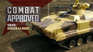 Vikhr: Reborn as Robot. Russian UGV equipped with drones and a precision battle module