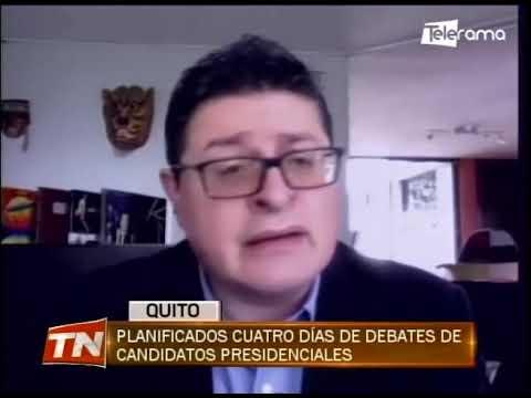Planificados cuatro días de debates de candidatos presidenciales