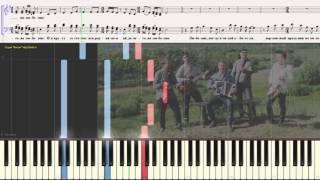 Любо мне - Казачья (Ноты и Видеоурок для фортепиано) (piano cover)