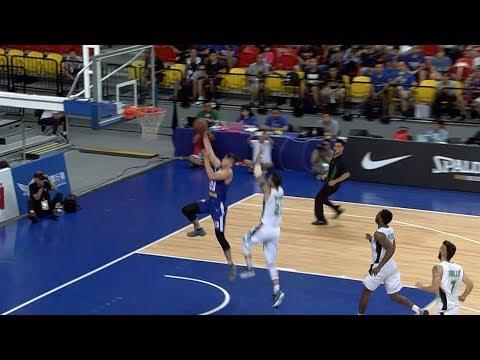 Kobe Paras escapes the defense for the jam!   Jones Cup 2017 (видео)