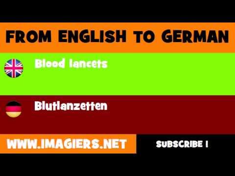 DEUTSCH   ENGLISCH  = Blutlanzetten