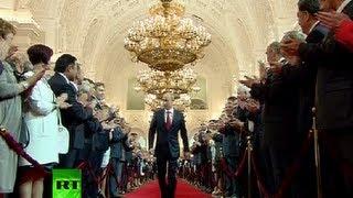 Full Video Vladimir Putins Presidential Inauguration Ceremony In Kremlin