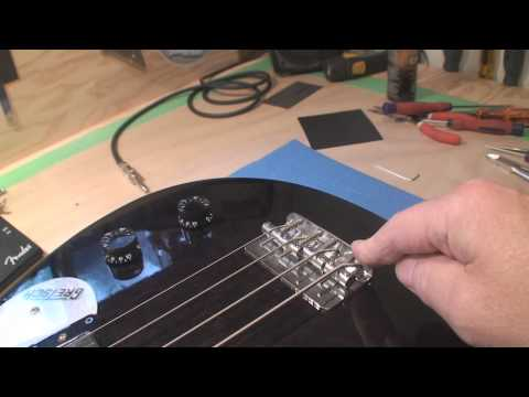 Bass Guitar Bridge Construction