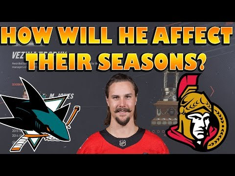 How The Senators/Sharks Will Finish The Season post Karlsson Trade NHL 19