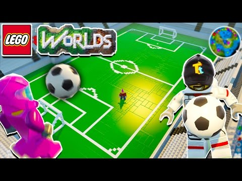 LEGO Worlds Multiplayer: FUNNY FOOTBALL MATCH & BUILD!!! (LEGO)