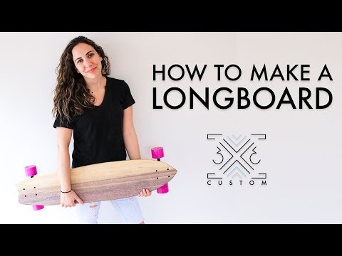 How To Make A Longboard // Scrap Project // Diy Project // Beginner Woodworking Project