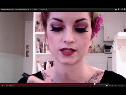 cherry dollface - Just a pretty vintage inspired Valentines Day look for you gals wanting to dress up on the special day. Try one of my vintage hairstyles with this makeup and...