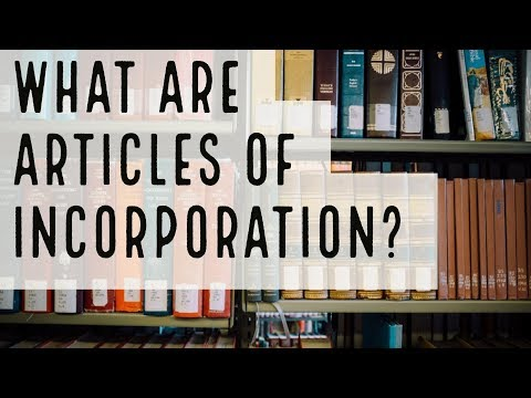 What are Articles of Incorporation. By CORP USA