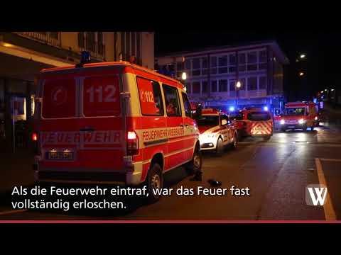 Küchenbrand in der Wiesbadener Webergasse