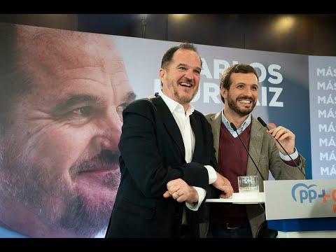 Intervención de Carlos Iturgaiz, candidato del PP+Cs a presidir el País Vasco